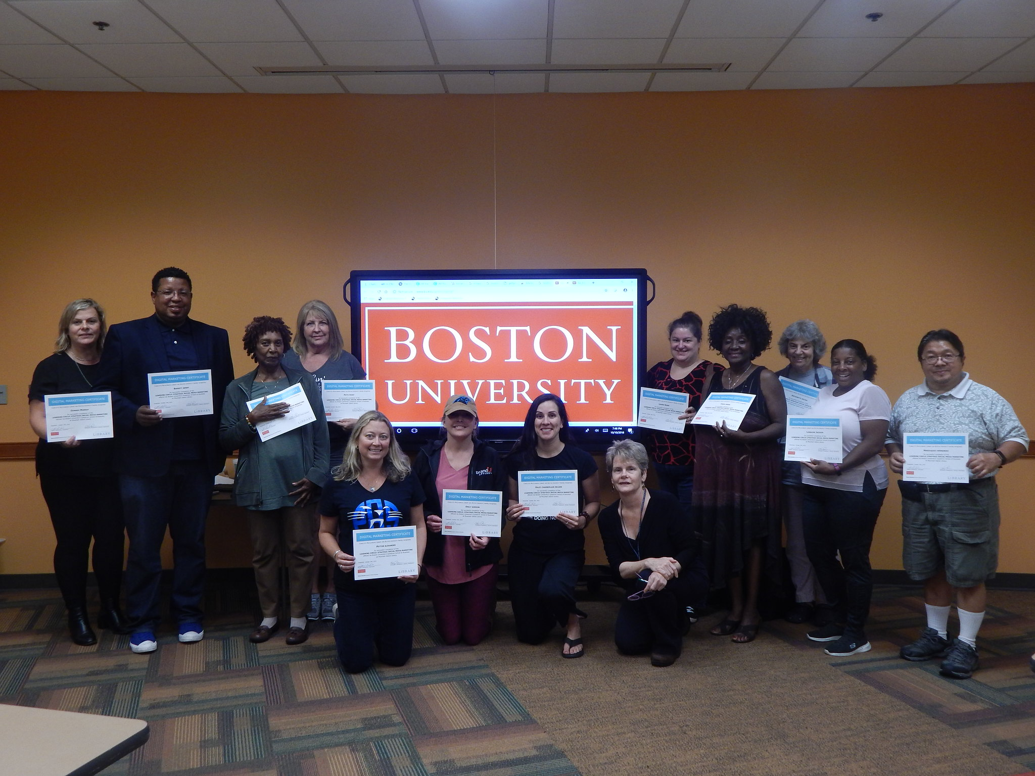 Here is a photo of a learning circle graduation